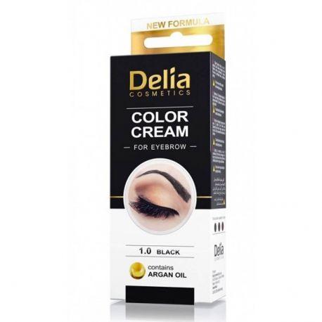 Vopsea sprancene Delia Negru 15ml