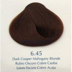 Vopsea de par Yellow 6.45 Mahon inchis cupru blond