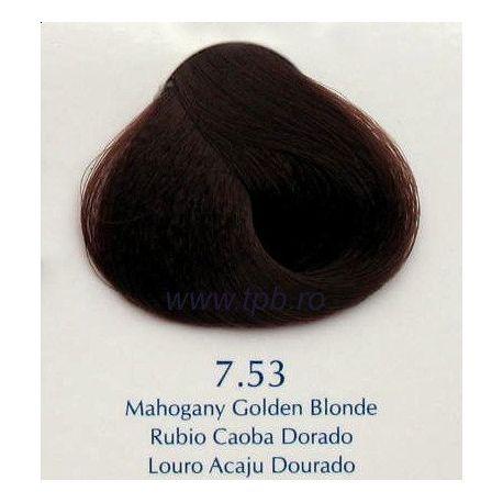 Vopsea de par Yellow 7.53 blond cenusiu mahon