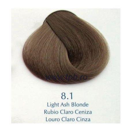 Vopsea de par Yellow 8.1 blond cenusiu deschis