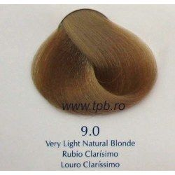 Vopsea de par Yellow 9.0 blond natural foarte deschis