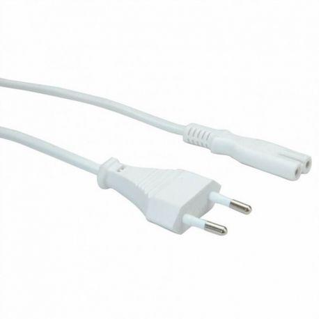 Cablu de alimentare alb 1m 220V