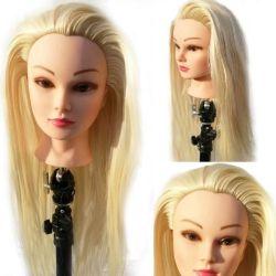 Cap practica par blond sintetic cu suport prindere
