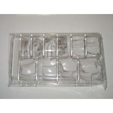 Set 500 unghii false 10 marimi transparente la cutie