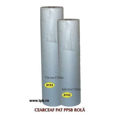 Cearceaf rola TNT textil netesute unica folosinta, 60cmx150m ALB 1rola