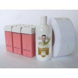 oferta 12 ceara Roz cu ulei si hartie de epilat